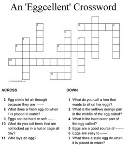 A Crossword About Eggs