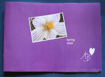 Ample Bosom Spring Catalogue 2009 With Farming Friends Crocus Photograph On Cover