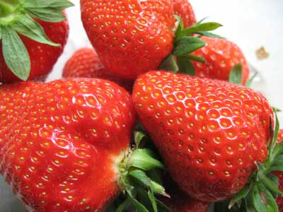 Punnet Of Freshly Picked Strawberries