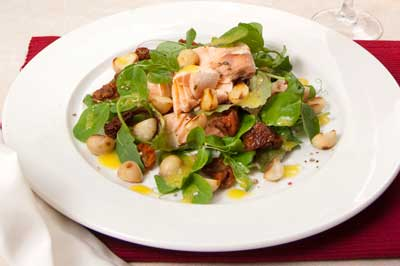 Salmon and Macadamia Salad